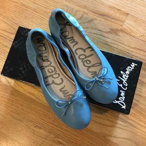 Size 6.5 Sam Edelman blue leather flats